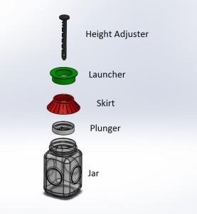 Ultimate Pickle Jar Assembly labeled