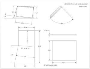 2D drawing layout of Sheet Metal Leadership Award