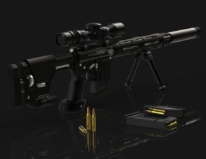 Sniper rifle 3D CAD