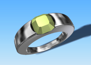 diamond ring 3D cad